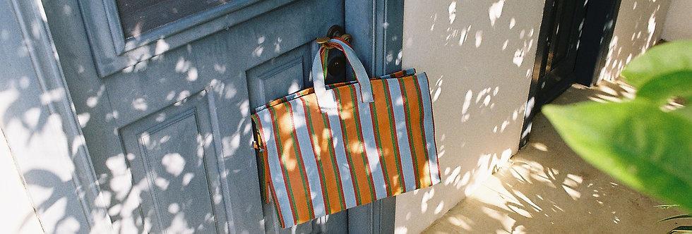 Mercato Bags Blue/Orange Stripe