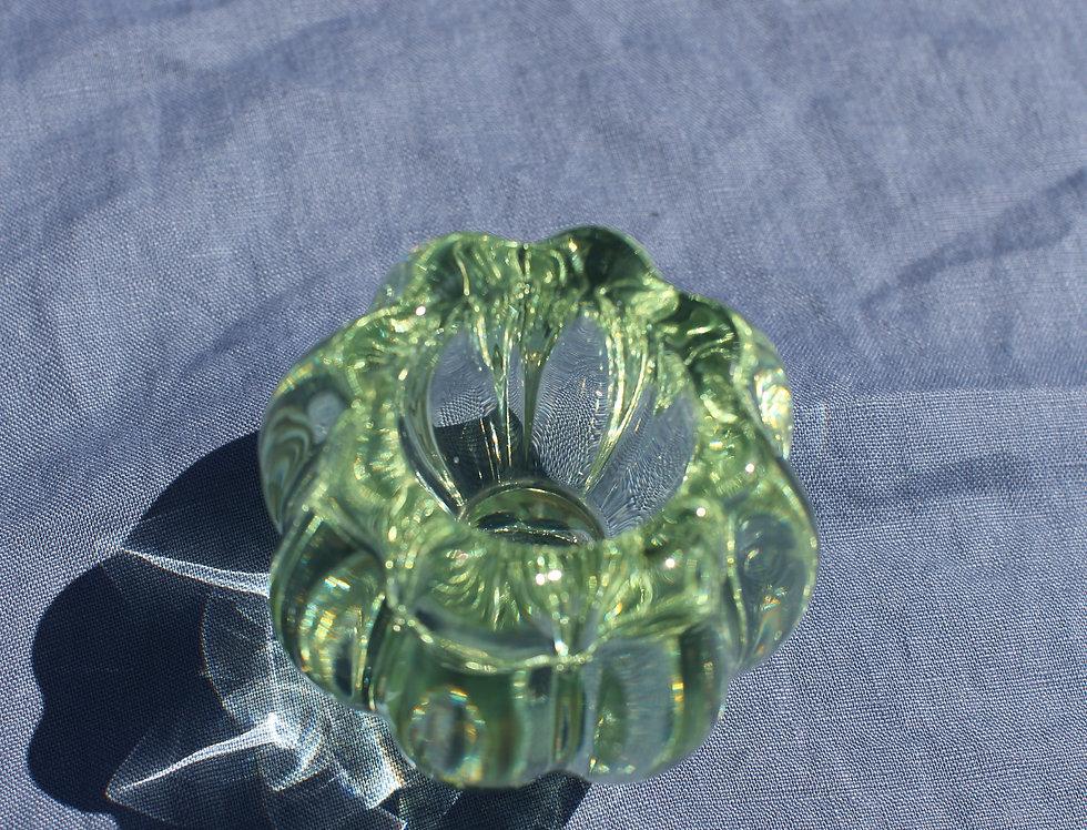 Mint Murano Glass Tea Light Holder
