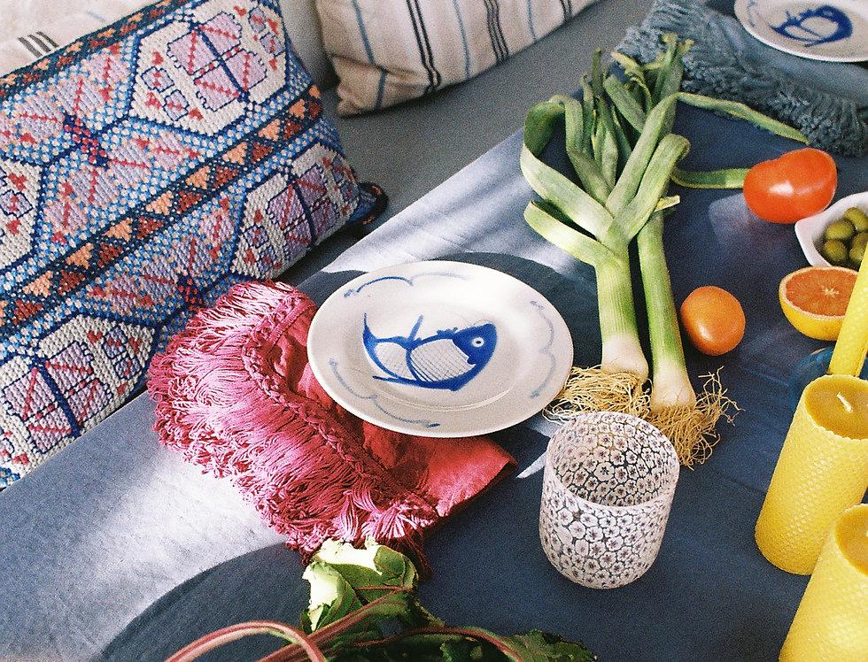 Linen Napkin With Long Fringes - Fucshia