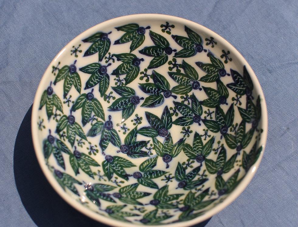 Medium Ceramic Bowl - Aegean Collection - Green Bees