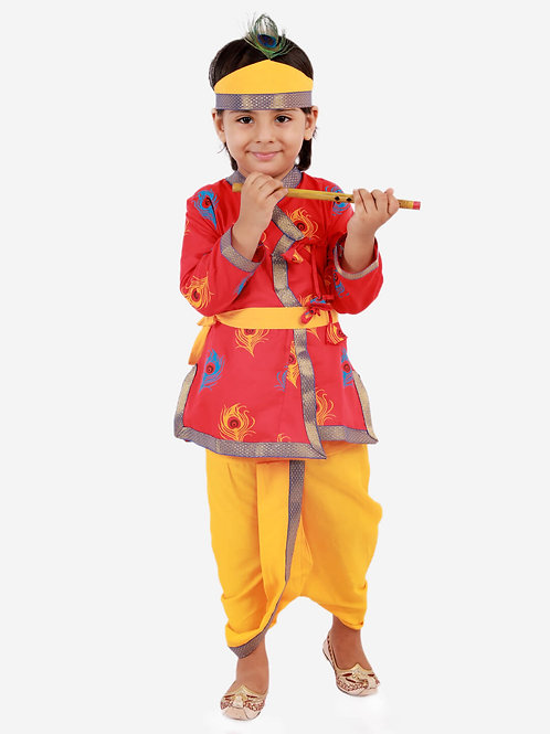 Boys Janmashtami Krishna Dhoti set in Red