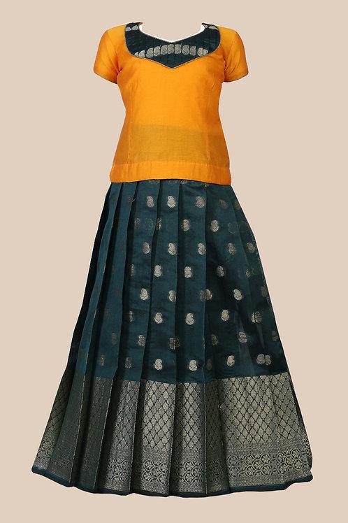 Shivangi Girls Dark Cuckoo Pavadai set !!! – AM97GR