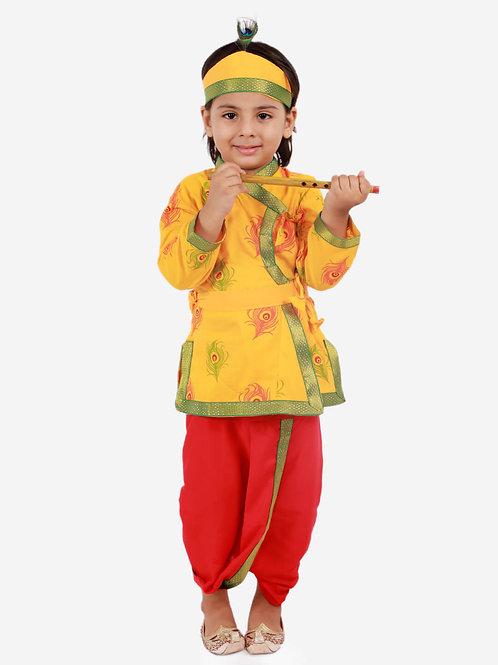 Boys Janmashtami Krishna Dhoti set in Yellow