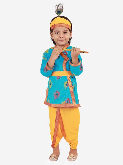 Boys Janmashtami Krishna Dhoti set in Blue
