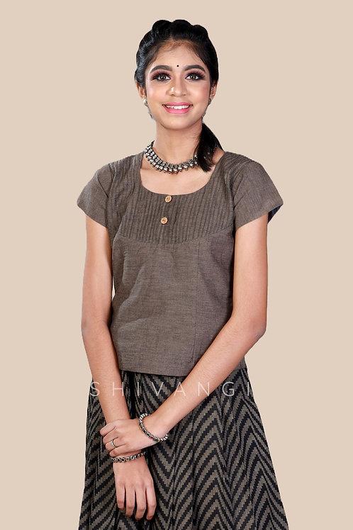 Shivangi Girls Cotton Jacquard Pavadai set !!! – AN90GY