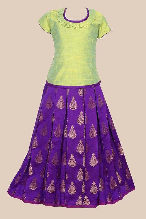 Shivangi Girls Floral Chanbali Pavadai Set/Lehenga !!! – AM86BU