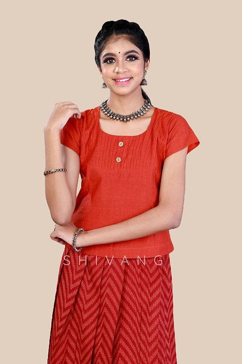 Shivangi Girls Cotton Jacquard Pavadai set !!! – AN90MR