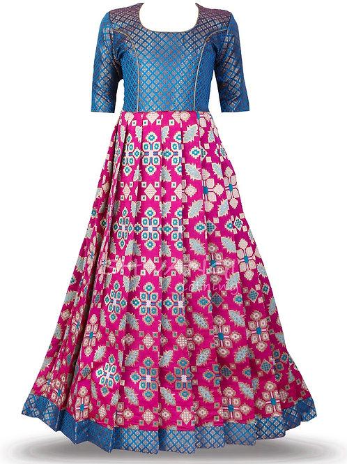 Shivangi Patola Lemon Tree Long Gown in Pink