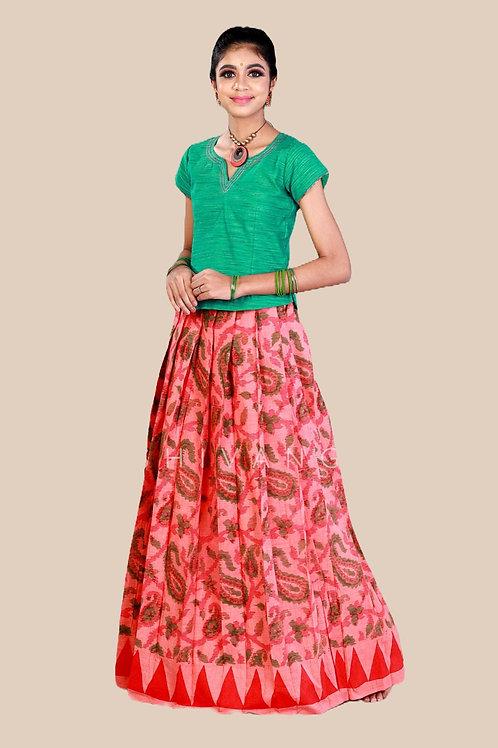 Shivangi Girls Printed Mango Creeper Pavadai set !!! – AN91PE