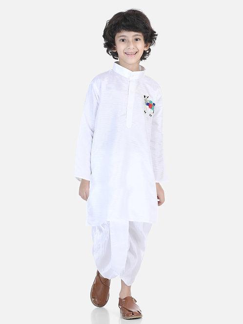 Natyam White Dhoti Kurta for baby boys