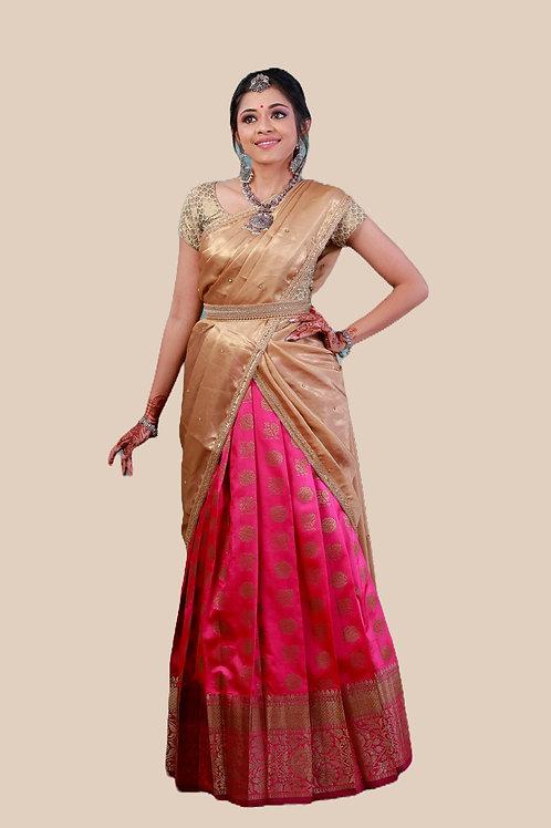 Shivangi Girls Moon And Peacock Half Saree !!! – AN12PK