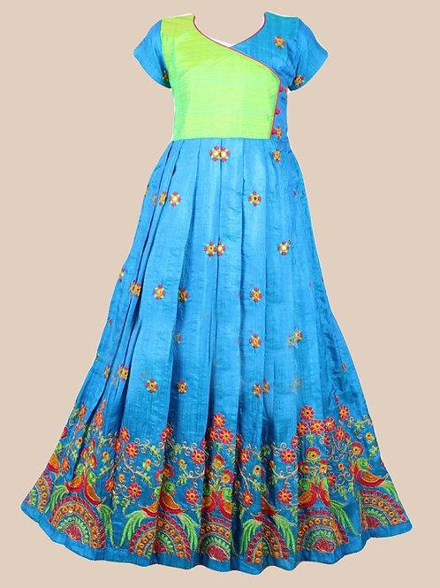 Shivangi Girls Embroidery parrot Long Gown !!! – AI67BU