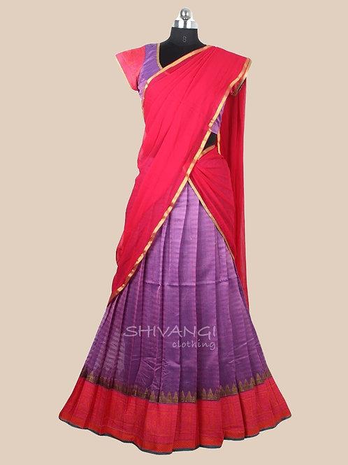 Shivangi Yendhra Half Saree for Teenager in Purple