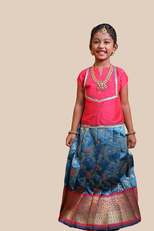 Shivangi Girls Honey Suckle Pavadai Set   Lehenga !!!- AM76PBU