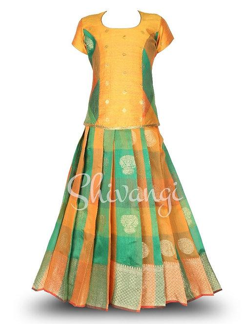 Girls Pattu Pavadai | Lehenga