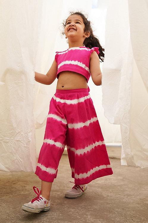 Tiber Taber Baby Girls Pink Stripe Top Set