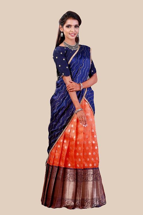 Shivangi Girls Checks Zinniah Half saree !!! – AN17OR