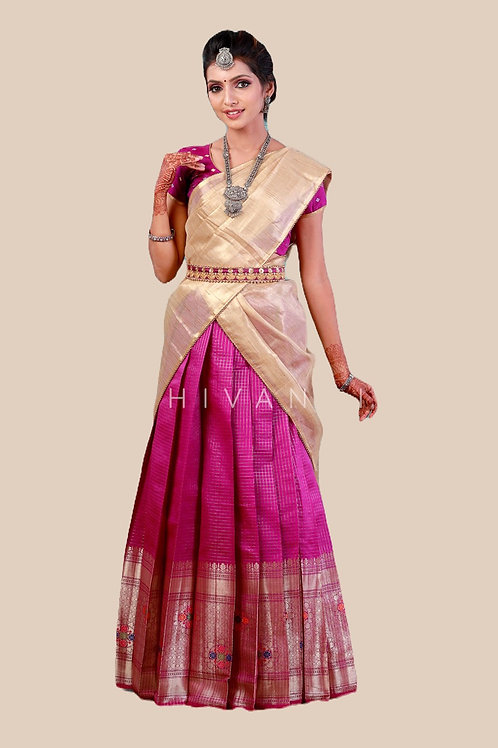 Top 10 best half sarees for teenage girls | Natyam Online