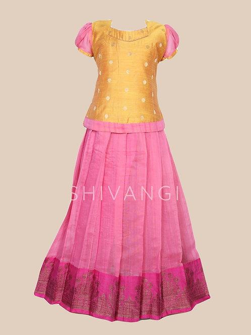 Shivangi Girls Poppy Pavadai set | Lehenga !!!