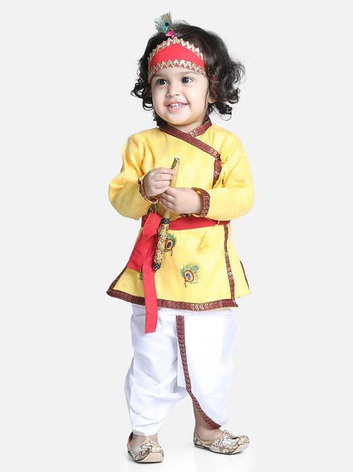 Bow N Bee Little Cotton Kanhaiya Suit Dress in Yellow