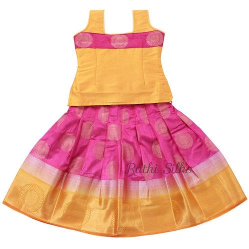 Girls Art silk pavadai set | Lehenga