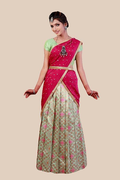 Shivangi Girls Zentangle Half Saree !!! – AL89GR