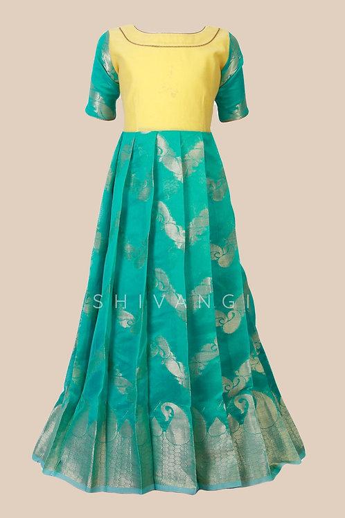 Shivangi Girls Mango Waves Long Gown !!! – AM93GR