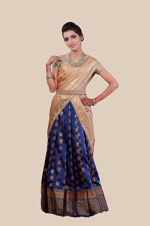 Shivangi Girls Moon And Peacock Half Saree !!! – AN12NBU
