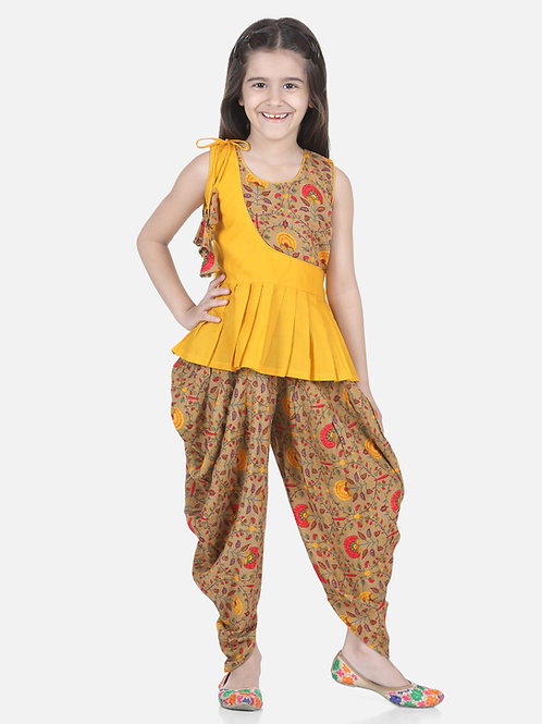 Natyam  Brown Dhoti for Girls