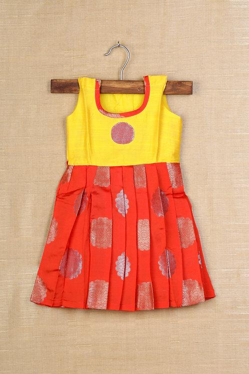 Shivangi Orange Baby Frocks For Little Ones!!!