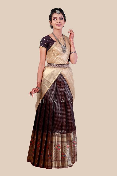 Buy South indian teenage girl pattu half saree   Natyam