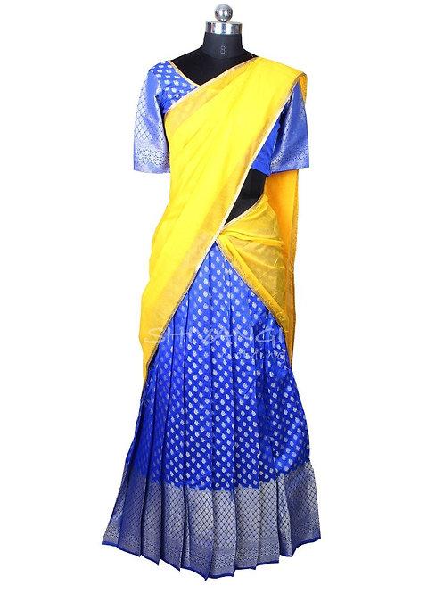 Shivangi Cuckoo Half Saree for Teenager in Blue