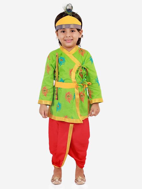 Boys Janmashtami Krishna Dhoti set in Green