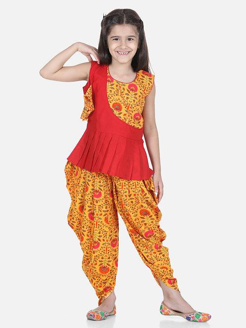 Natyam Girls yellow dhoti