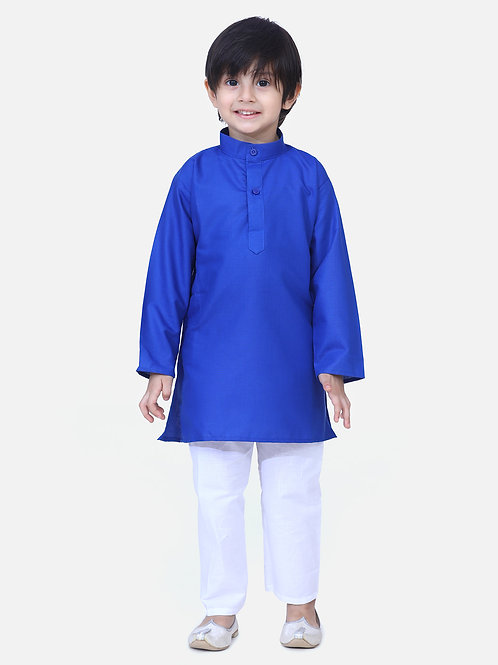 Kidswear Children Ethnic Blue Green Colored Kurta Pajama