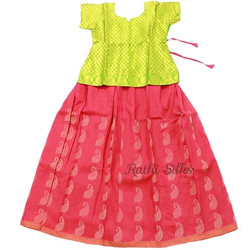 Pure Silk pattu pavadai | Lehenga for girls