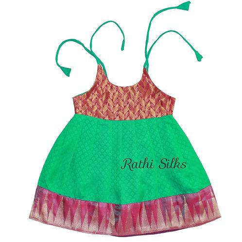 Pure Mix Shoulder Knot Designer Baby Frocks