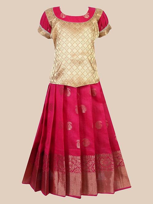Shivangi Girls Devasena Pattu Pavadai !!! – AN33PK