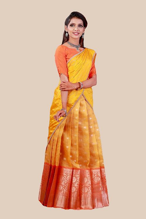 Shivangi Girls Checks Zinniah Half saree !!! – AN17YL