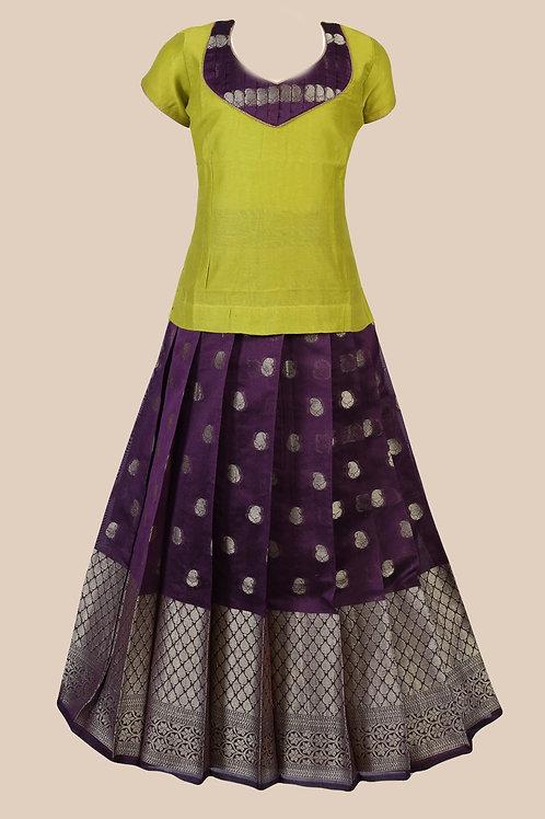 Shivangi Girls Dark Cuckoo Pavadai set !!! – AM97BR