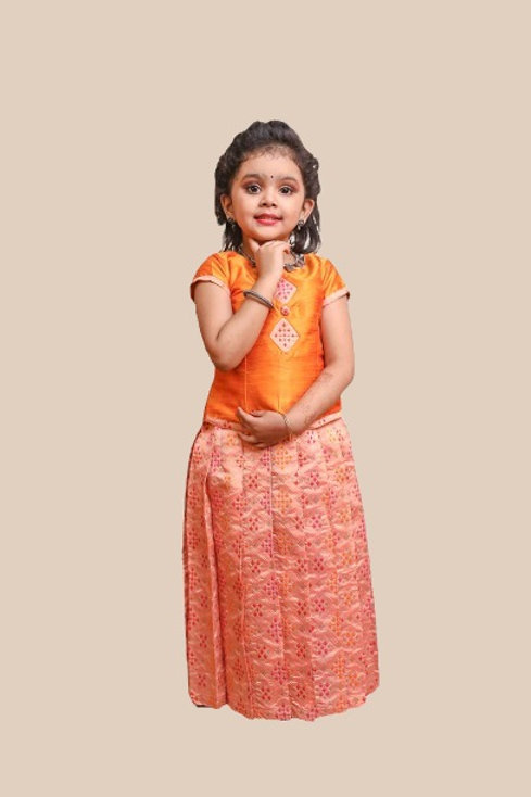 Shivangi GirlsPatola Diamond Pavadai set | Lehenga !!! – AL17PE