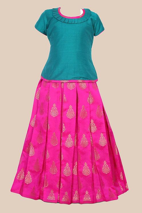 Shivangi Girls Floral Chanbali Pavadai Set/Lehenga !!! – AM86PK