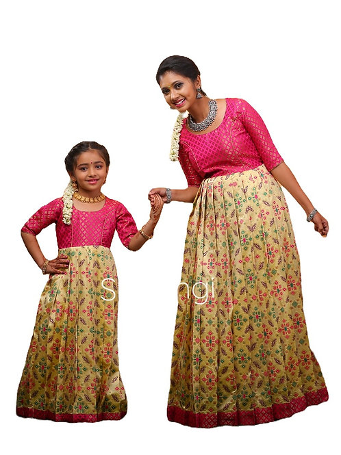 Shivangi Patola Lemon Tree Long Gown in Yellow