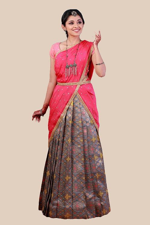 Shivangi Girls Zentangle Half Saree !!! – AL89GY