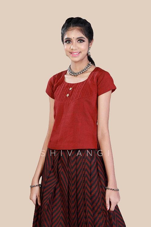 Shivangi Girls Cotton Jacquard Pavadai set !!! – AN90BR