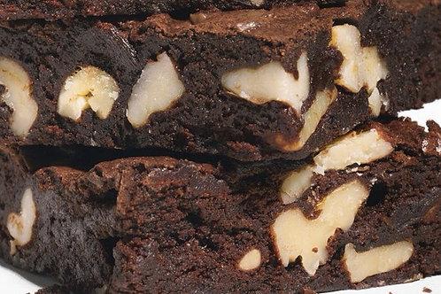 12 Jumbo Fudge Brownies with Walnuts