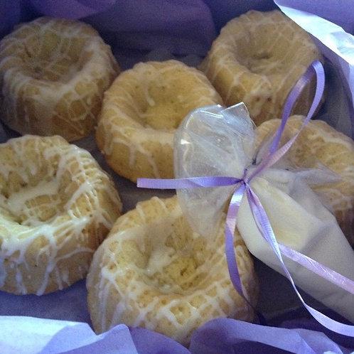 6 Mini Lemon Bundt Cakes