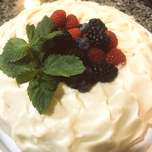 Berry key lime Bundt Cake