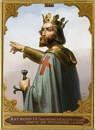 Ce tableau représente Raymond de Saint-Gilles, ou Raymond IV, comte de Toulouse. Il est difficile de le retranscrire sur un t-shirt d'histoire. Appliqué en tant qu'imprimé d'histoire sur un tee-shirt d'histoire, il est cependant particulièrement esthétique, surtout si c'est un t-shirt d'histoire fabriqué en France.