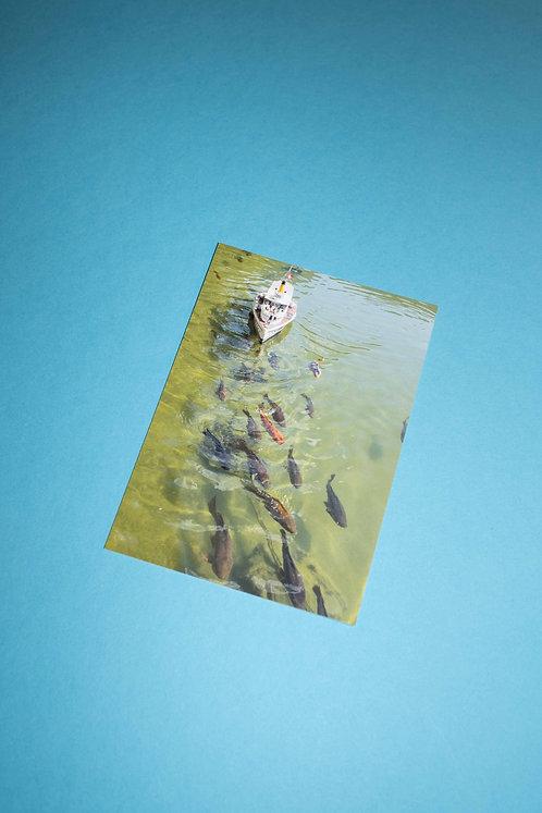 """""""Dampfschiff"""" Postkarte"""